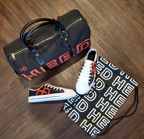 HEED NYC OTL Black & Blood Orange Mini Duffle & Sneaker Bundle - HEED NYC