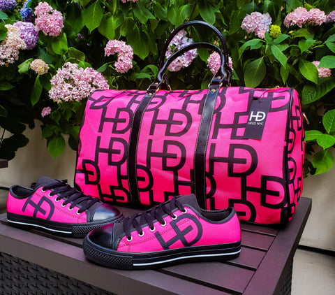 HEED NYC YAYA Pink & Black Duffle and Classic Pink & Black Sneaker Bundle - HEED NYC