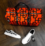 HEED NYC YAYA Blood Orange & Black Duffle and Black and White Sneaker Bundle - HEED NYC