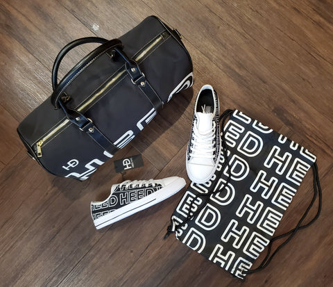 HEED NYC OTL Black & White Mini Duffle and Black & White Sneaker Bundle - HEED NYC