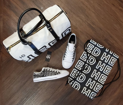 HEED NYC OTL White & Black Mini Duffle and White & Black Sneaker Bundle - HEED NYC