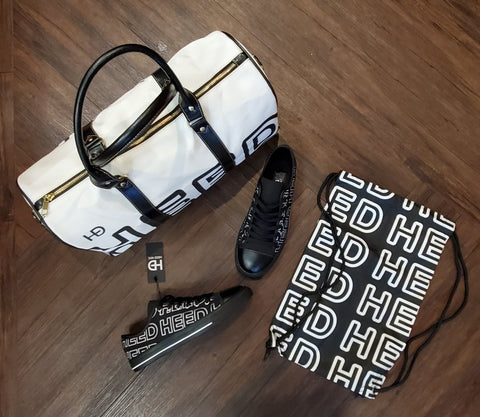 HEED NYC OTL White & Black Mini Duffle and Black Sneaker Bundle - HEED NYC