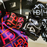 HEED NYC Signature Black 100% Silk Scarf - HEED NYC