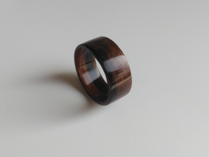 ebony maccasar bentwood wooden ring