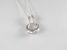 Load image into Gallery viewer, ring holder necklace pedant silver