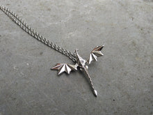 Load image into Gallery viewer, origami dragon fantasy necklace pendant