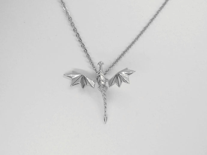 origami dragon fantasy necklace pendant