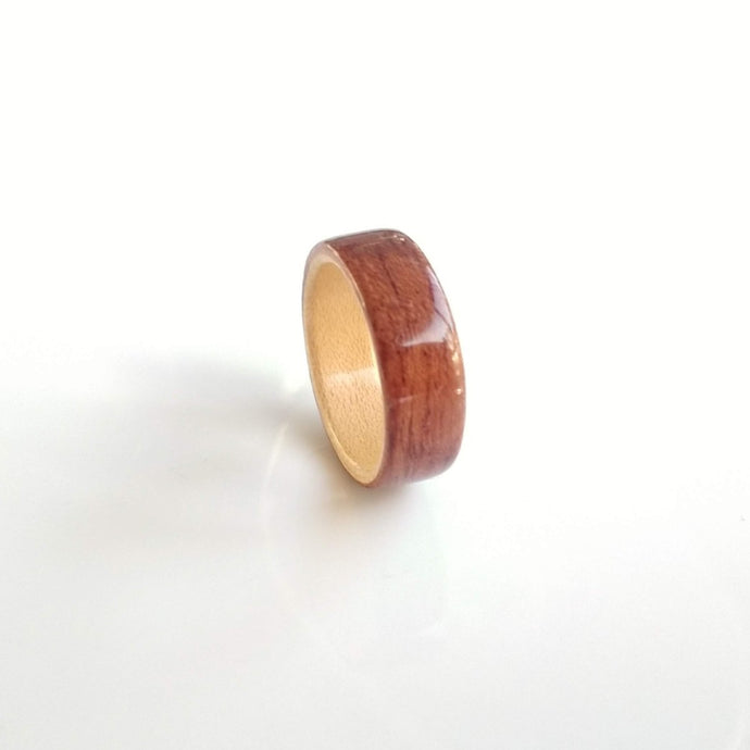 bubinga maple bentwood wooden ring