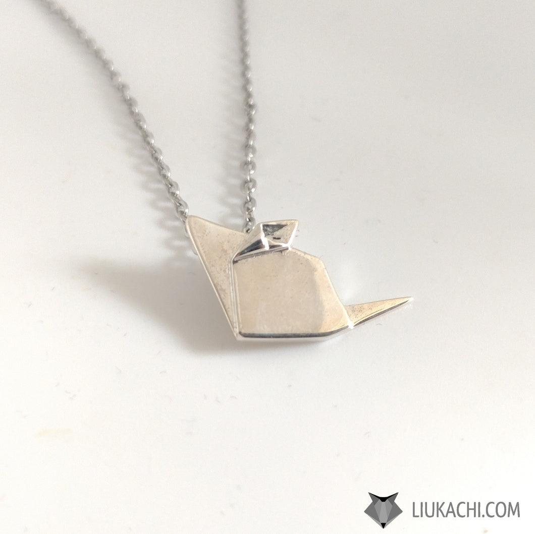 Origami Mouse Necklace