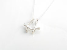 Load image into Gallery viewer, ring holder necklace pendant sterling silver