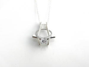 ring holder necklace pendant sterling silver