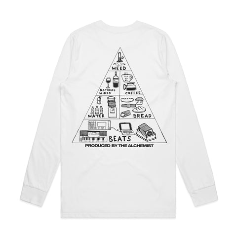 Nutritional Pyramid (White Longsleeve Shirt)