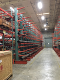 "Used Cantilever Racking 16' tall x 30"" arms x 72"" centers"