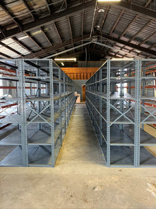 "Used Borroughs Shelving 36"" wide x 18"" deep x 87"" high"
