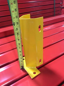 Used pallet rack column protector