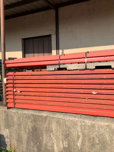 used pallet rack teardrop beams