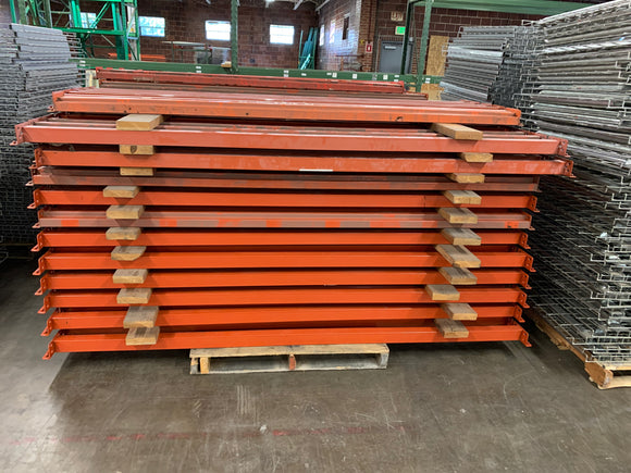 Used Pallet Rack Teardrop Beams 96