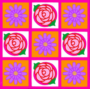 Flower Power Grid Art Print
