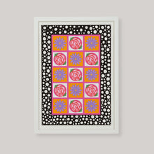 Load image into Gallery viewer, Flower Power Grid Art Print