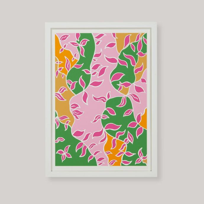 Her Colourful Spring Art Print