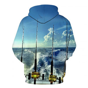 Going Fishing - 3D High Definition Men's Hoodies