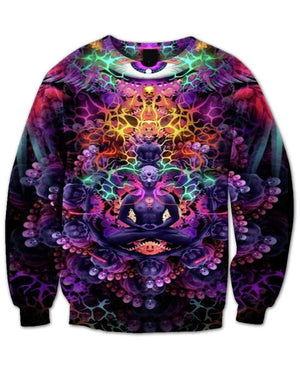 Meditation Colorful Sweatshirt 3d Printed - Front & Back