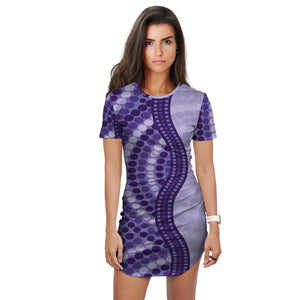 Australian Aboriginal Design 3 Women's Long T Shirt - Dress