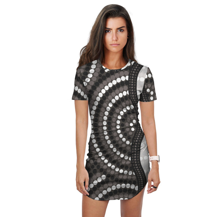 Australian Aboriginal Design 6 Women's Long T Shirt -Dress