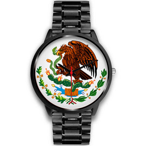 Mexico Eagle Watch - Black Stainless Steel - Japanese Movement