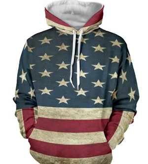 American Independence Day Flag 3D Digital Print Sweatshirt