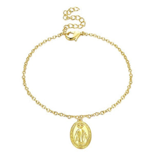 Mother Mary Adjustable Bracelet in 18K Gold Plated