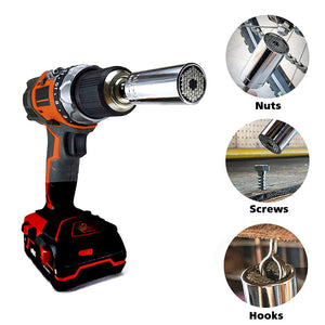 Adjustable Wrench Socket Sleeve Universal Ratchet Fits Metric and SAE
