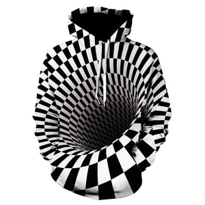Optical Illusion 3D Sweatshirts - Printed on Front & Back