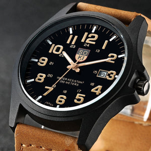 Sport Watches Quartz Watch Leather