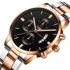 Mens Military Stainless Steel Analog Date Sport Quartz Watch