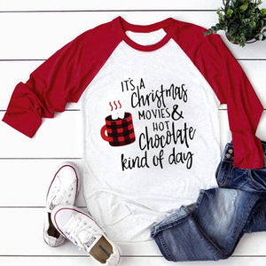 Christmas Movies & Hot Chocolate T shirt