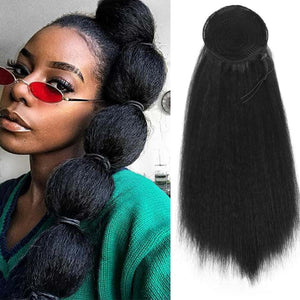 Puff Afro Straight Wig Ponytail 22 or 30inch Synthetic Extensions