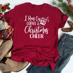 I Run on Coffee & Christmas Cheer T Shirt