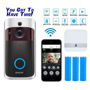 Smart IP Doorbell Camera with WIFI - Intercom - Video - Auto Sensor - Works with your Phone