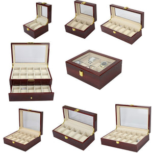 Luxury Wood Watch Storage Box