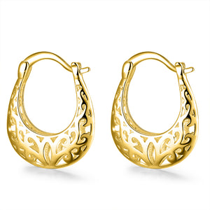 Filigree Leverback Hoop  Earring