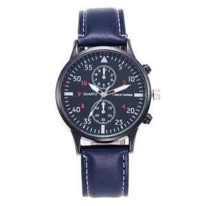 Mens Casual Quartz Watch Luxury Leather Band