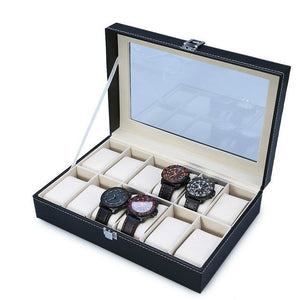 Black Luxury Watch Storage Box