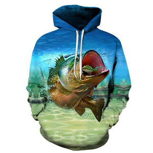 Monster Bass - 3D High Definition Men's Hoodies