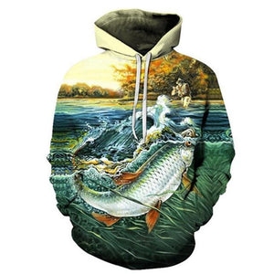 Big Lunker - 3D High Definition Men's Hoodies