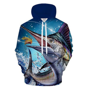 Marlin - 3D High Definition Men's Hoodies