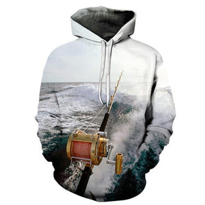 Deep Sea Trolling - 3D High Definition Men's Hoodies