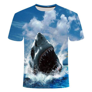 Fishing Digital Fishing T Shirt Jaws