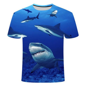Fishing Digital Fishing T Shirt Shark