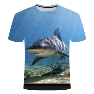 Fishing Digital Fishing T Shirt Shark 2